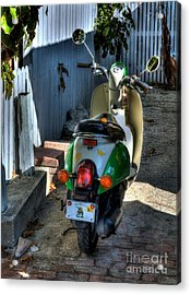 Key West Scooter Acrylic Print by Mel Steinhauer