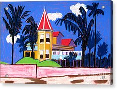 Key West Southern House Acrylic Print by Lesley Giles