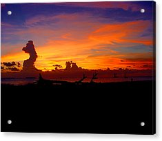 Key West Sun Set Acrylic Print by Iconic Images Art Gallery David Pucciarelli