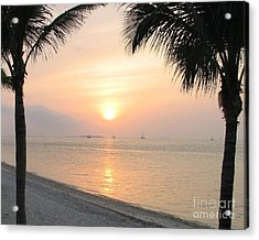 Acrylic Print featuring the photograph Key West Sunet by Shelia Kempf