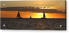 Key West Sunset Fleet Acrylic Print