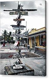 Key West Wharf Acrylic Print by Ellen Heaverlo