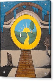 Acrylic Print featuring the painting Keyhole by Steve  Hester