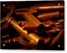 Acrylic Print featuring the photograph Keys by WB Johnston