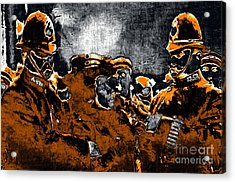 Keystone Cops - 20130208 Acrylic Print by Wingsdomain Art and Photography