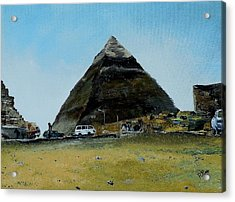Khafre's Tomb Acrylic Print by Raymond Perez