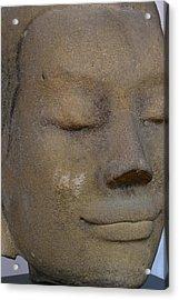 Khmer Head Acrylic Print