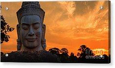 Khmer Sunrise Acrylic Print by Pete Reynolds