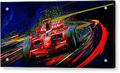 Kickin It With Kimi Acrylic Print by Alan Greene