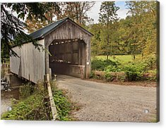 Kidder Hill Covered Bridge Acrylic Print