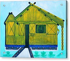 Acrylic Print featuring the painting Kiddie House by Lorna Maza