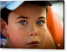 Kid's Blue Eye's Acrylic Print by Sotiris Filippou