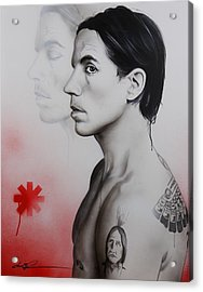 Anthony Kiedis - ' Kiedis Apache Soul ' Acrylic Print by Christian Chapman Art