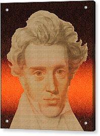 Kierkegaard Acrylic Print by Asok Mukhopadhyay