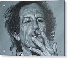 Keith Richards Acrylic Print by David Dunne