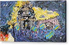 Kiev Burning Acrylic Print by Marwan George Khoury