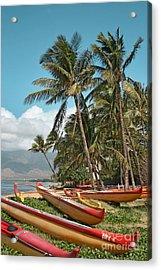 Acrylic Print featuring the photograph Sugar Beach Kihei Maui Hawaii by Sharon Mau