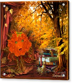 Kikki The Fluffy Flower Storyteller Acrylic Print