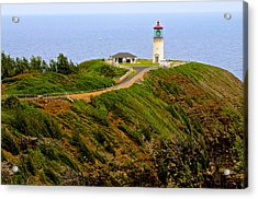 Kilauea Lighthouse In Color Acrylic Print