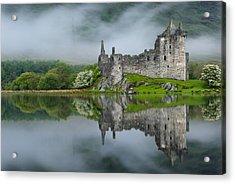 Kilchurn Castle At Dawn Acrylic Print by David Ross