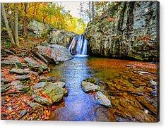 Kilgore Falls In Maryland In Autumn Acrylic Print