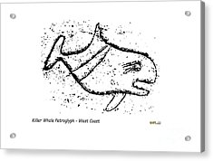Killer Whale Petroglyph Acrylic Print
