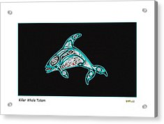 Killer Whale Totem Acrylic Print