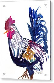 Kilohana Rooster Acrylic Print by Marionette Taboniar