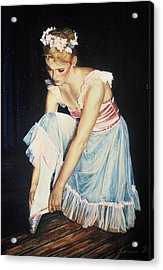 Kim At Her Dress Rehersal Acrylic Print