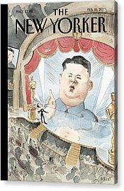 Kim Jong-un Interrupts Acrylic Print