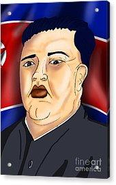 Kim Jong Un Acrylic Print by Ironheart Illustrations