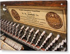 Kimball Piano-3476 Acrylic Print by Gary Gingrich Galleries