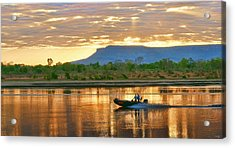 Acrylic Print featuring the photograph Kimberley Dawning by Holly Kempe