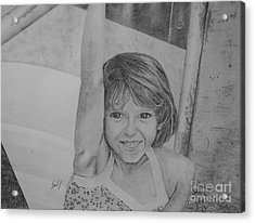 Kimberly In Black And White Acrylic Print by Lew Davis