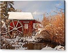Kimberton Mill After Snow Acrylic Print