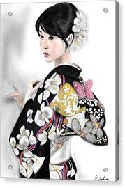 Kimono Girl No.1 Acrylic Print by Yoshiyuki Uchida