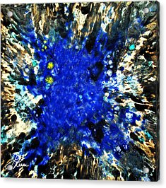 Acrylic Print featuring the painting Kinetic Blue by Joan Reese