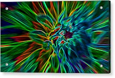 Kinetic Neon Abstract Acrylic Print by James Hammen