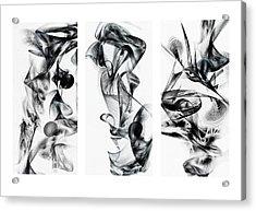Kinetic Triptych Acrylic Print