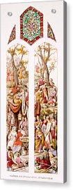 King Alfred At Athelney, Somerset Acrylic Print