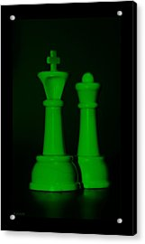 King And Queen In Green Acrylic Print by Rob Hans