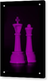 King And Queen In Pink Acrylic Print by Rob Hans
