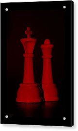 King And Queen In Red Acrylic Print by Rob Hans