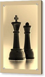 King And Queen In Sepia Acrylic Print by Rob Hans