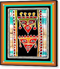 Acrylic Print featuring the digital art King And Queen by Vagabond Folk Art - Virginia Vivier
