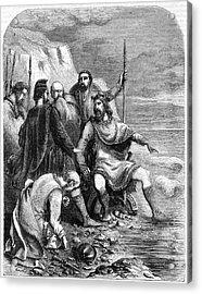 King Canute Of England (1016-1035) Acrylic Print