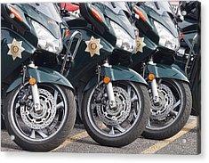 King County Police Motorcycle Acrylic Print