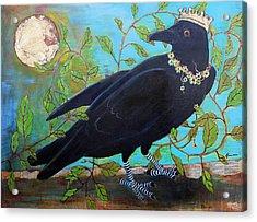 King Crow Acrylic Print by Blenda Studio