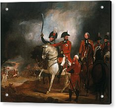 King George IIi And The Prince Of Wales Acrylic Print by Sir William Beechey
