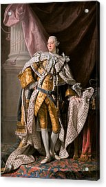 King George IIi In Coronation Robes Acrylic Print